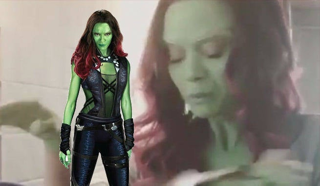 Zoe Saldana Shares Gamora Makeup Time-Lapse Video