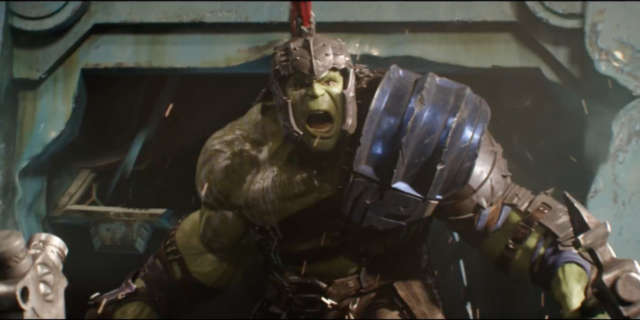 Gladiator Hulk in Thor Ragnarok Trailer