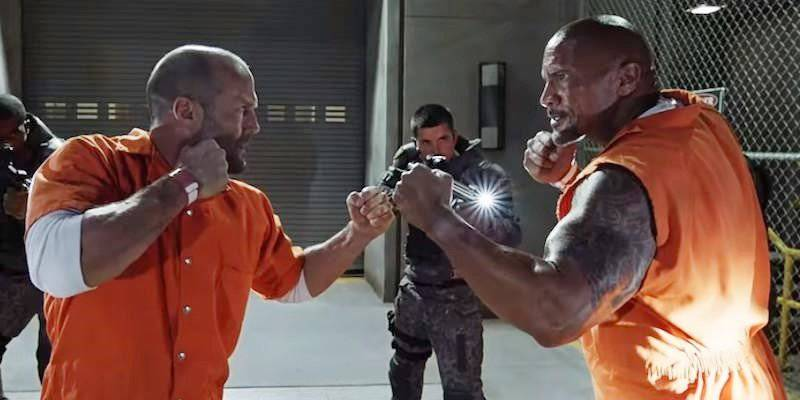 Fate Of The Furious Reportedly Cut Spinoff Set Up Scene For The Rock & Jason Statham