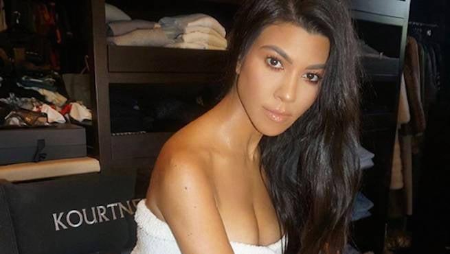 Kourtney Kardashian Shows off Her Toned Backside in New Photo