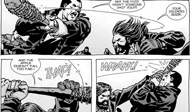 Negan Jesus fight
