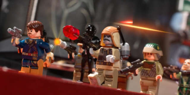 rogue one star wars recreated lego disney