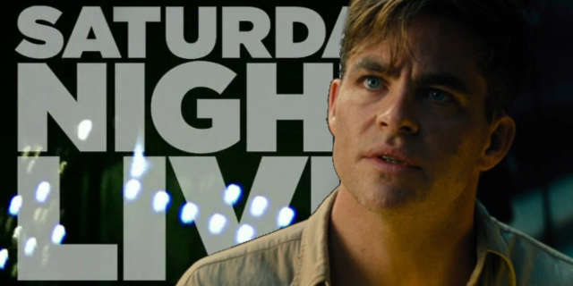 saturday night live chris pine host wonder woman movie