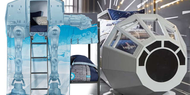 star wars millennium falcon at-at bed sets