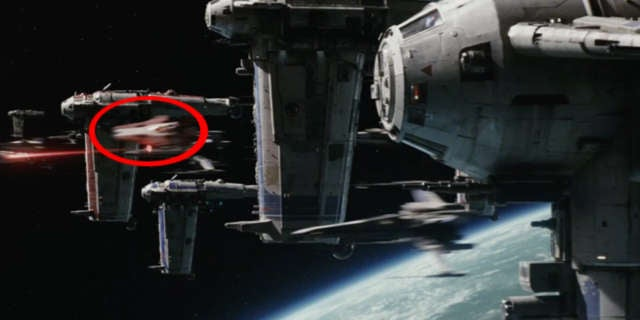 star wars the last jedi a-wing fighter easter egg