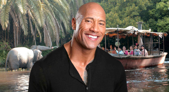 the rock dwayne johnson jungle cruise disney disneyland