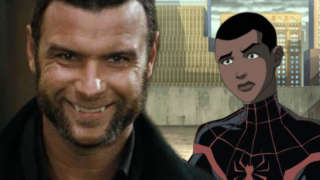 untitled animated spider-man movie miles morales liev schreiber interview
