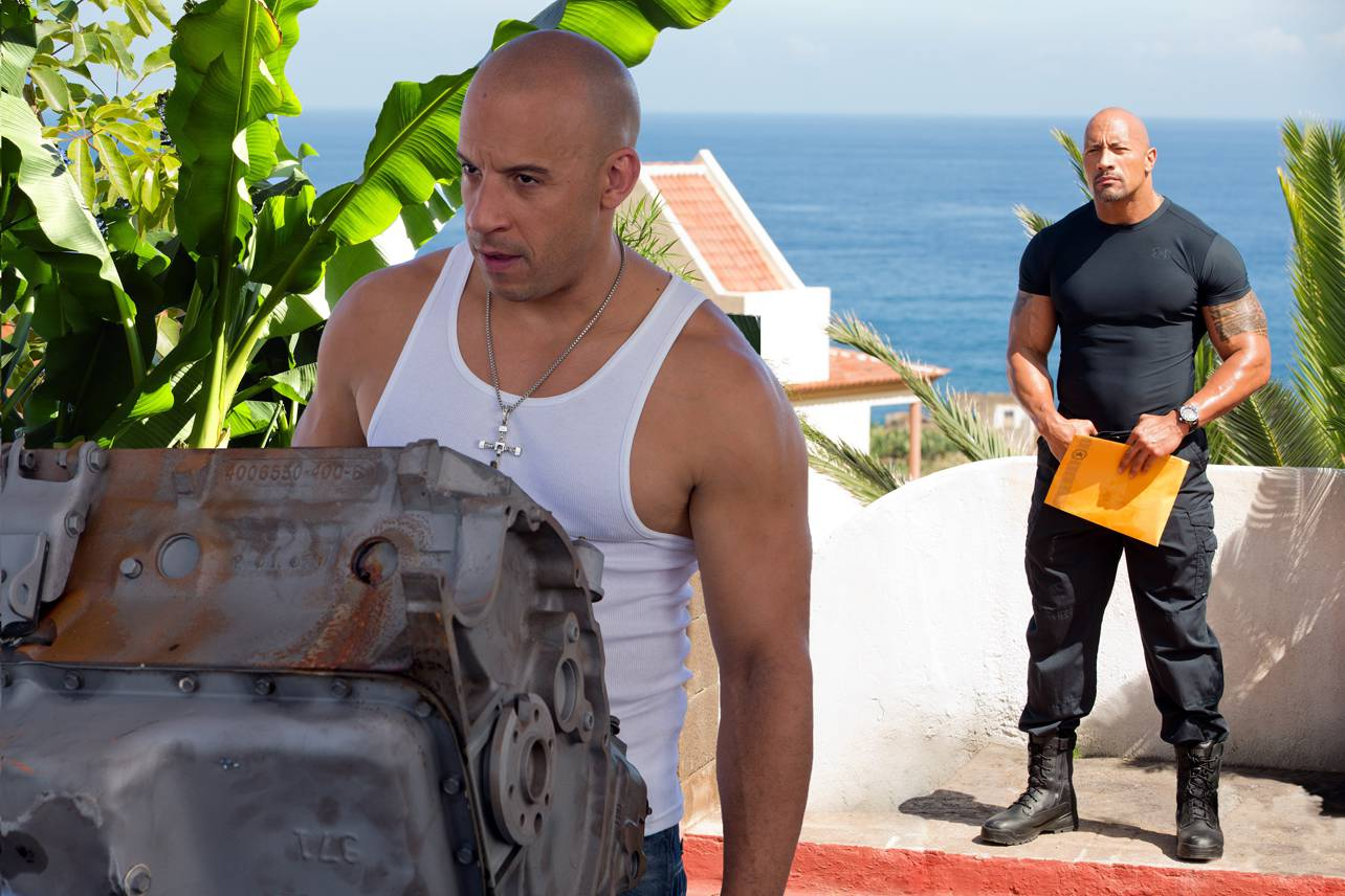 Vin Diesel Dwayne Johnson feud fake