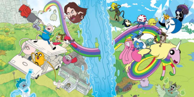 Adventure Time Regular Show Crossover Comic Header