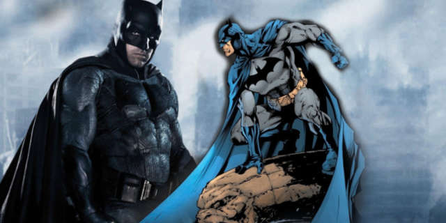 Batman Blue Gray Costume in DC Movies
