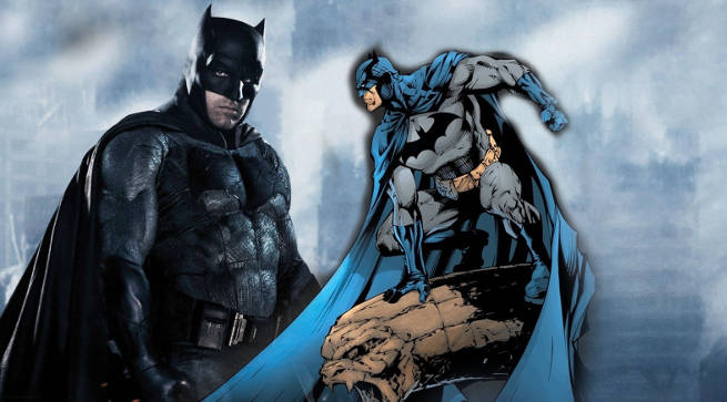 Batman Blue Gray Costume in DC Movies