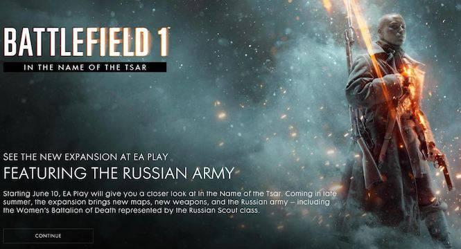 Battlefield 1's Next Expansion Will Focus On A Female Battalion