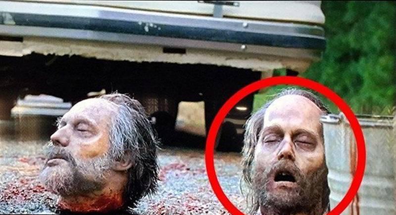 Johnny Depp Head on The Walking Dead