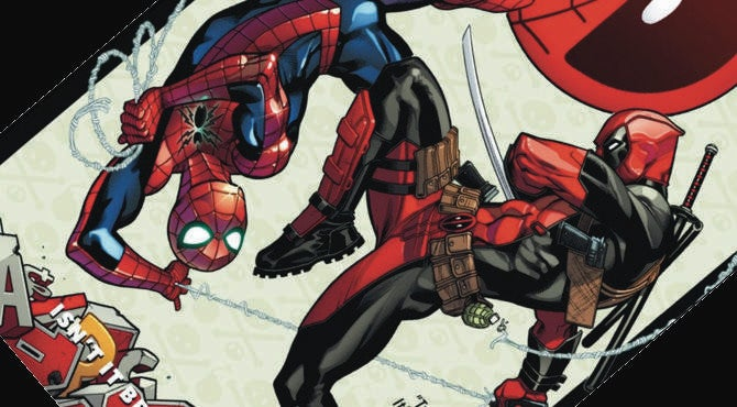 Spider-Man/Deadpool cover