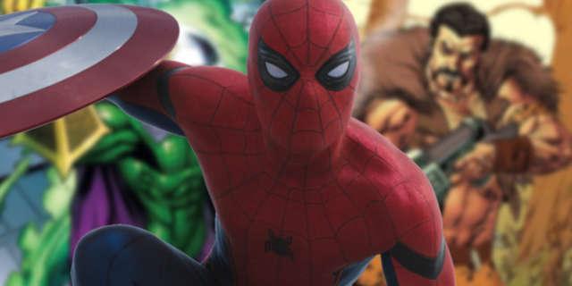spider-man homecoming tom holland new villains sequel