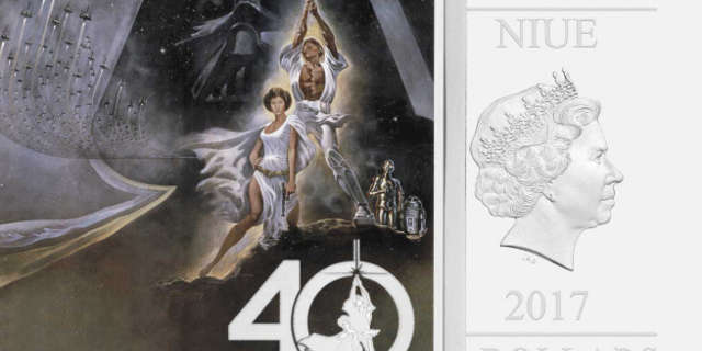 star wars 40th anniversary commemorative coin