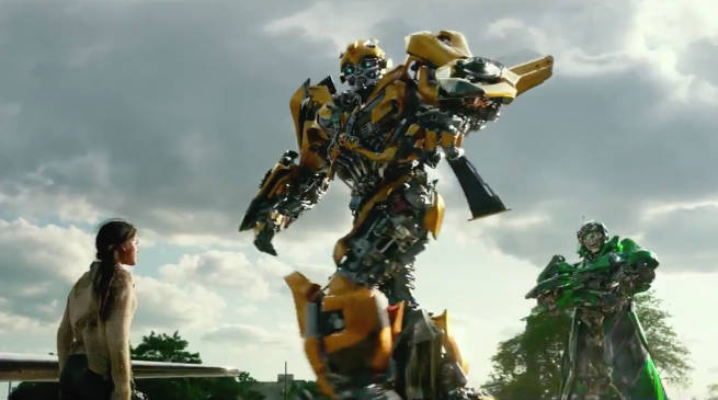 Transformers 5 Bumblebee Breaks Apart Attack Scene