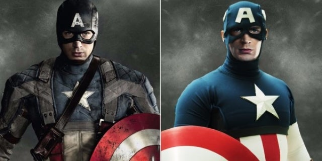 Avengers Comics vs Movie Costumes - Captain America