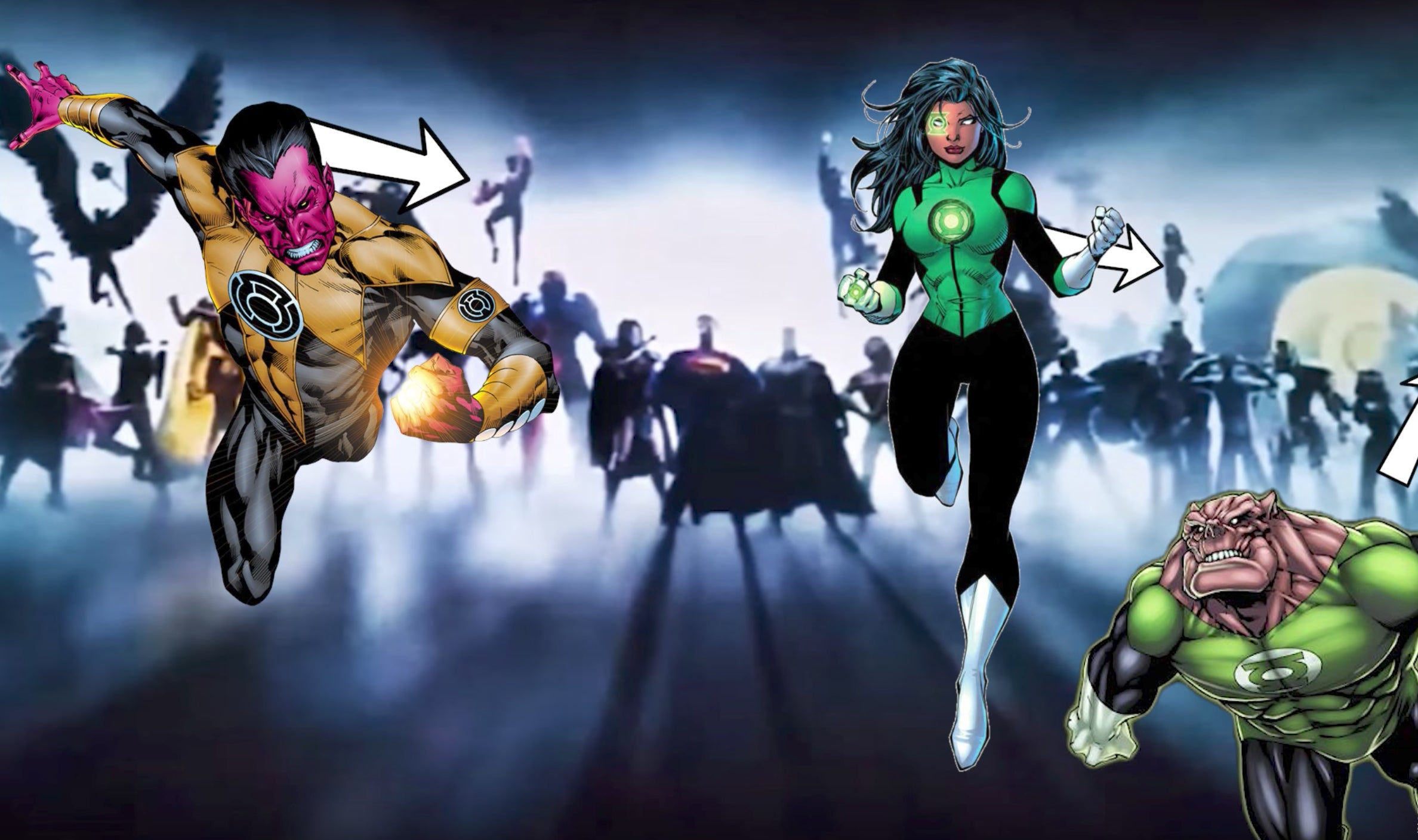 DC Movie Intro - Green Lantern Corps Sinestro Mogo Kilowog