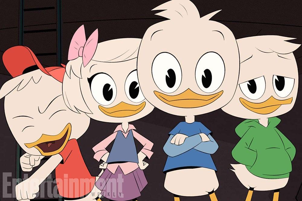 Huey, Dewey, Louie, and Little Webby