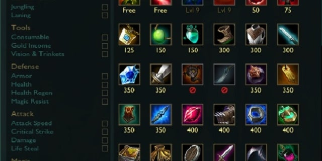 League of Legends Starting items
