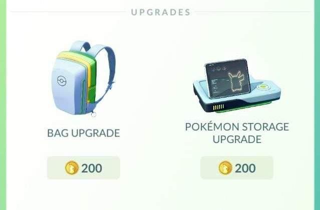 pokemon go new upgrade items
