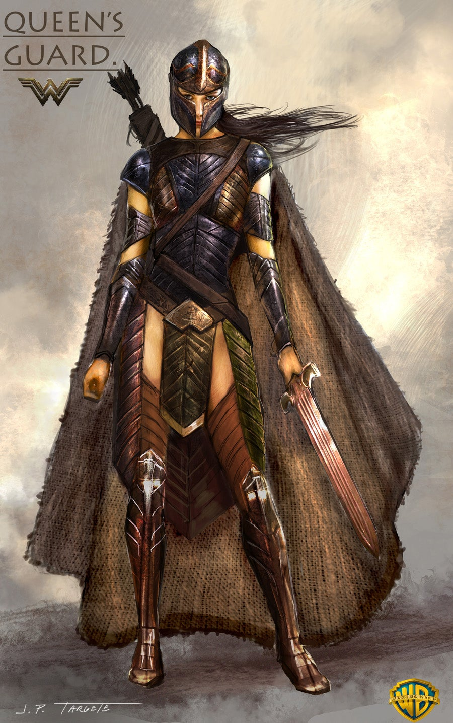 Wonder Woman Costume Illustrations Of Queen Hippolyta And Amazon Guards