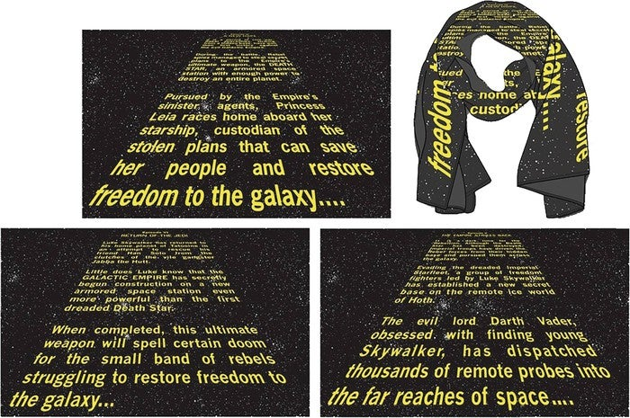 STAR WARS OPENING CREDIT CRAWL PX SCARVES