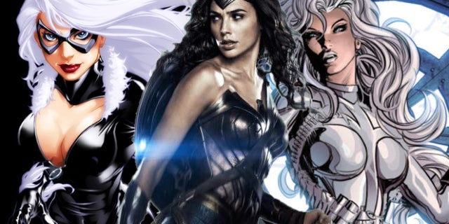 wonder woman black cat silver sable