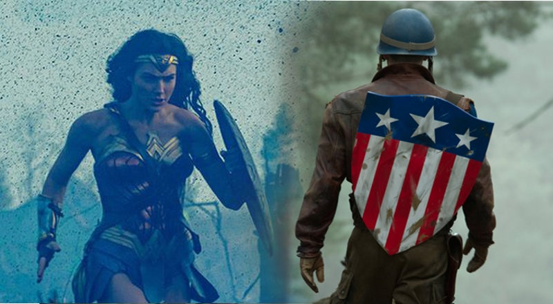 Wonder Woman Captain America First Avenger War Scenes