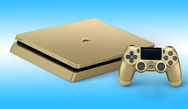 Image result for playstation 4 slim gold edition
