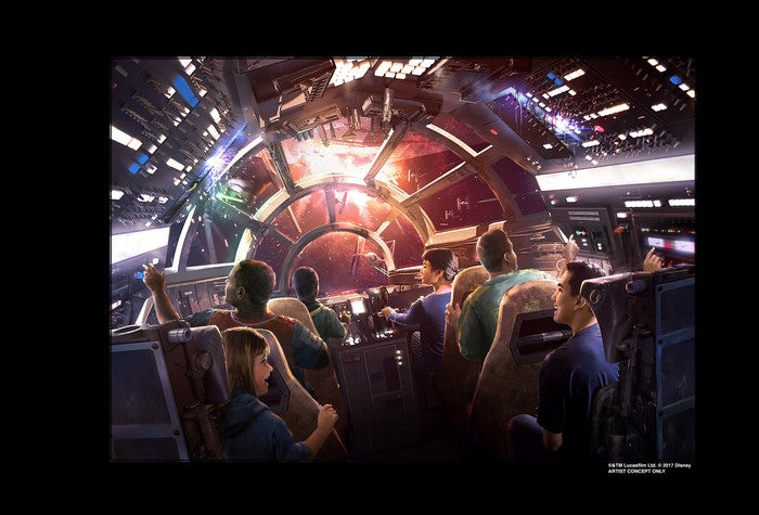 Image WDPR Star Wars Millennium Falcon Attraction