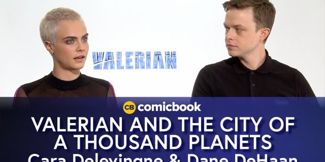 Cara Delevingne and Dane DeHaan Talk Valerian and the City of a Thousand Planets screen capture