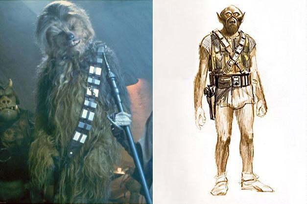 chewbacca concept art