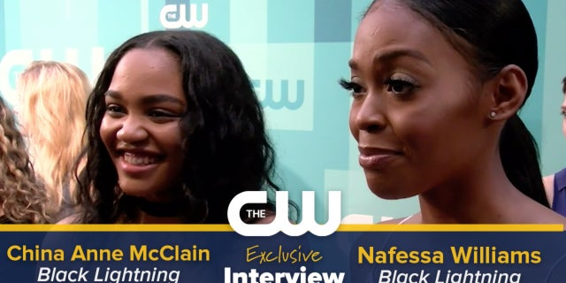 China Anne McClain and Nafessa Williams Talk Black Lightning screen capture