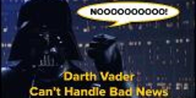 Darth Vader Can't Handle Bad News screen capture