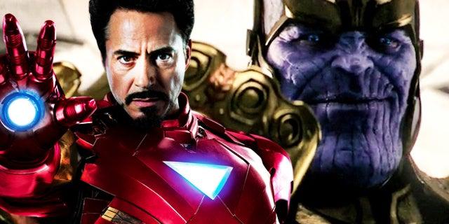 infinity war iron man thanos