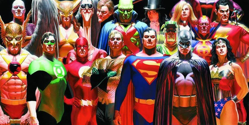 Sorry, does alex ross justice league messages not