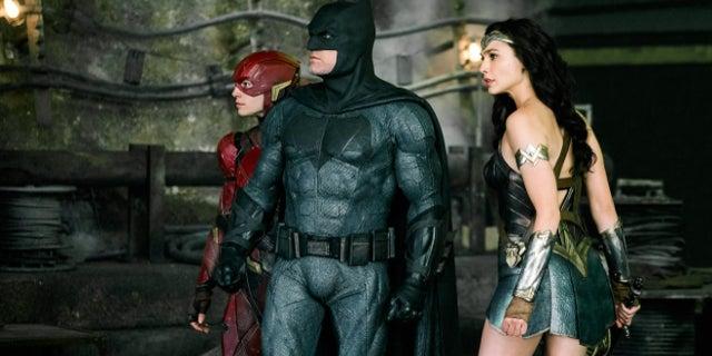 Justice League Photo - Batman Wonder Woman  Flash