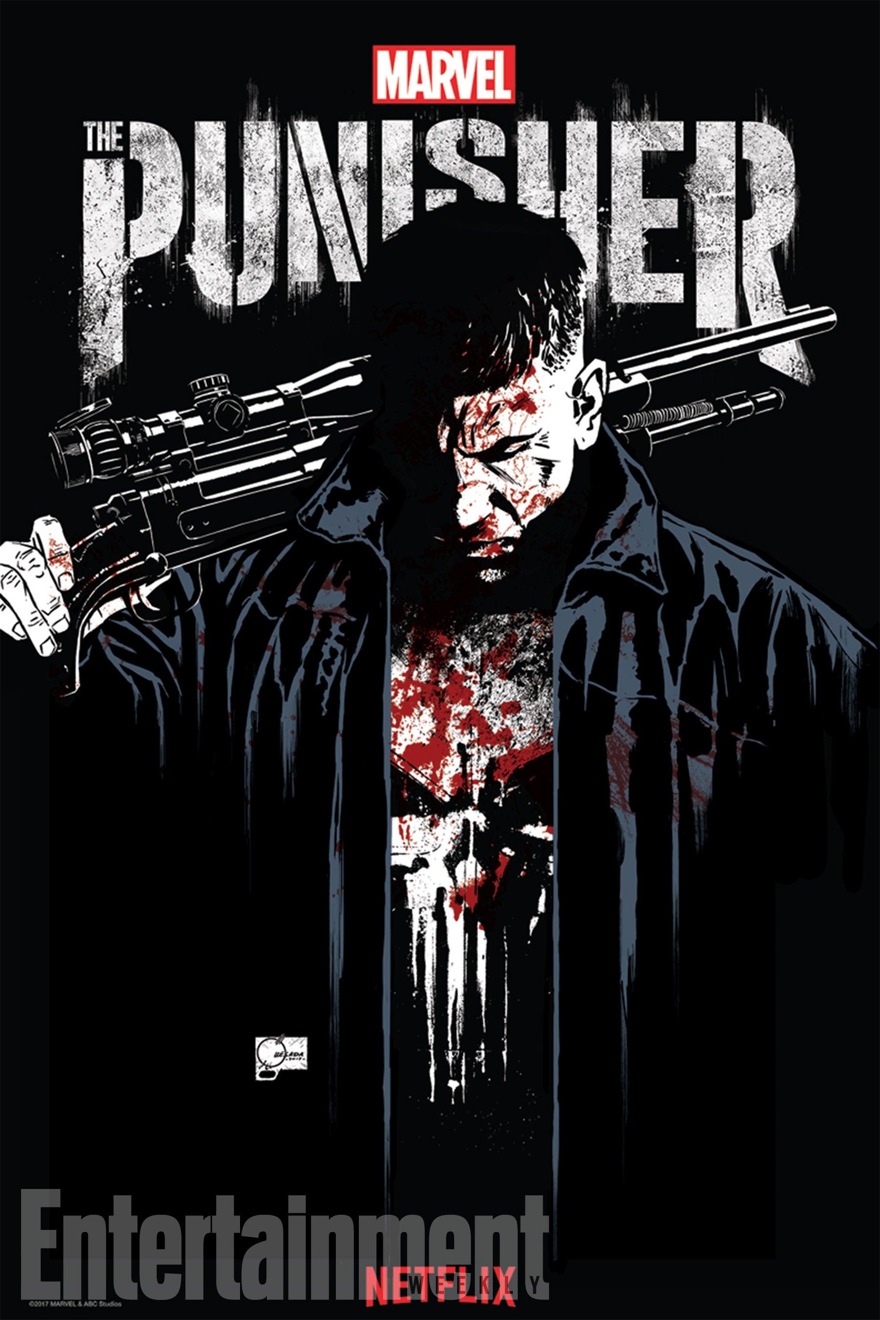 Cartaz da série Justiceiro / Punisher, da Netflix