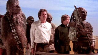 return of the jedi han solo chewbacca luke