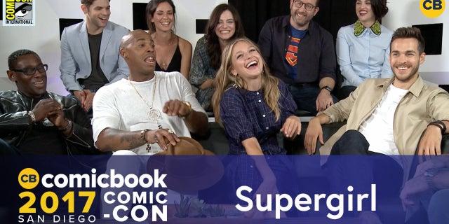 SDCC Exclusive Interview: Supergirl Cast screen capture