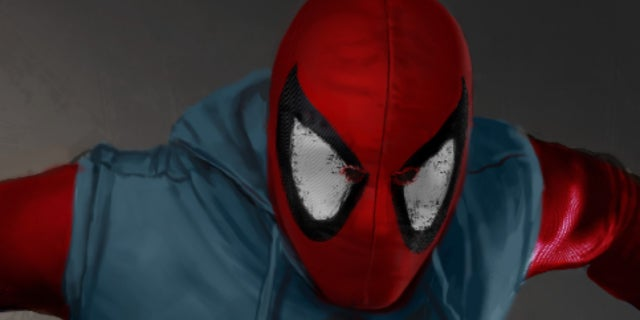 spider-man homecoming suit art