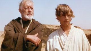star wars alec guinness slaps mark hamill obi-wan kenobi luke skywalker