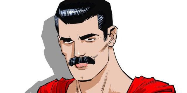 superman mustache cameron stewart