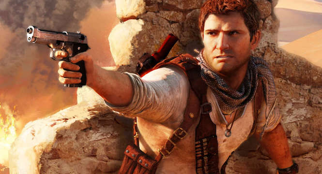 Nathan Drake doesn't actually take bullet damage in the Uncharted series