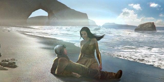 Wonder Woman Concept Art Joshua Min Ares Battle Themyscira