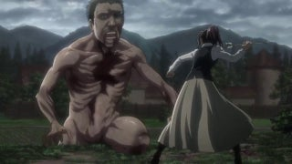 Attack on Titan Sasha vs Connie's Dad Titan