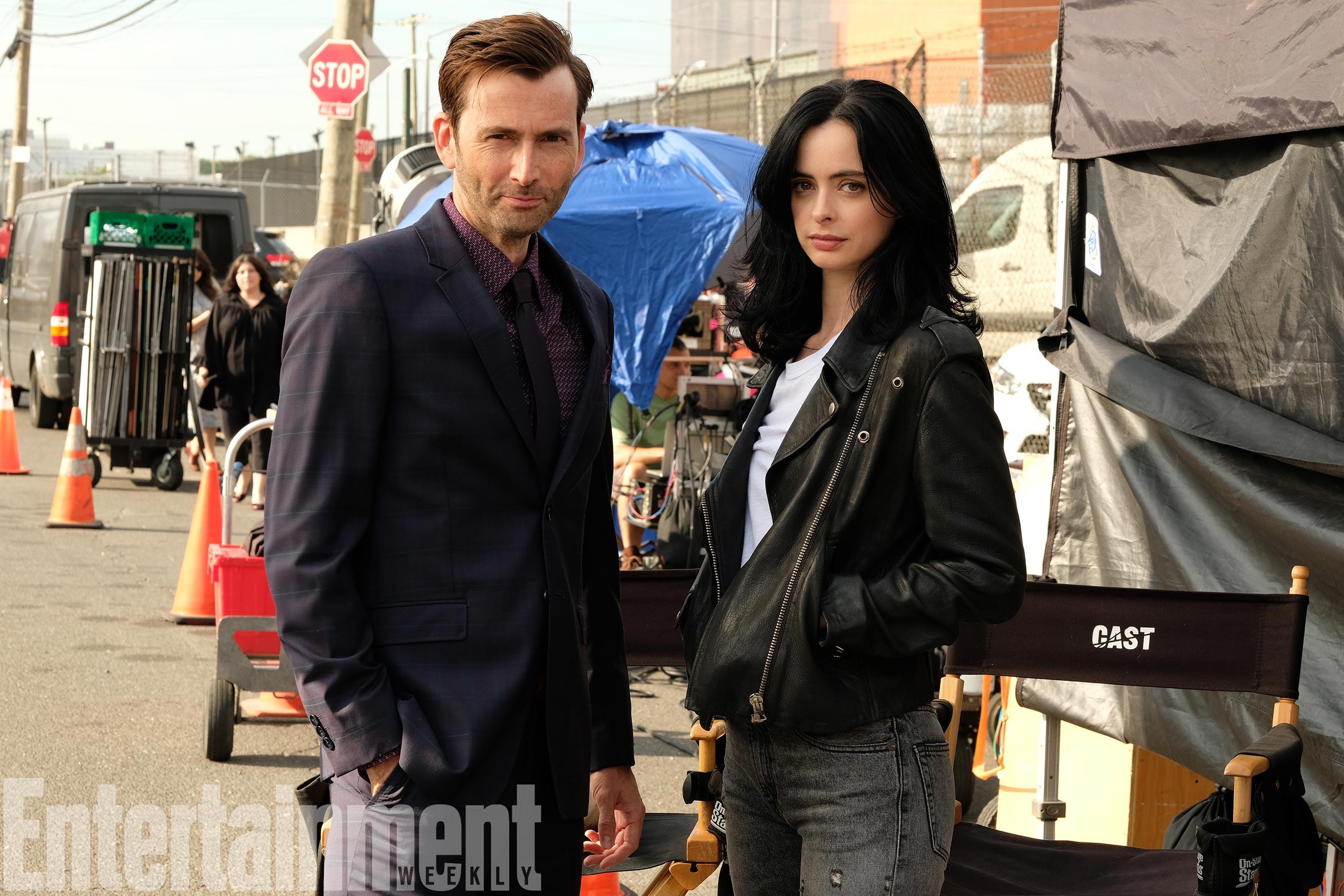 David Tenant on Set Jessica Jones Season 2 Set Photo