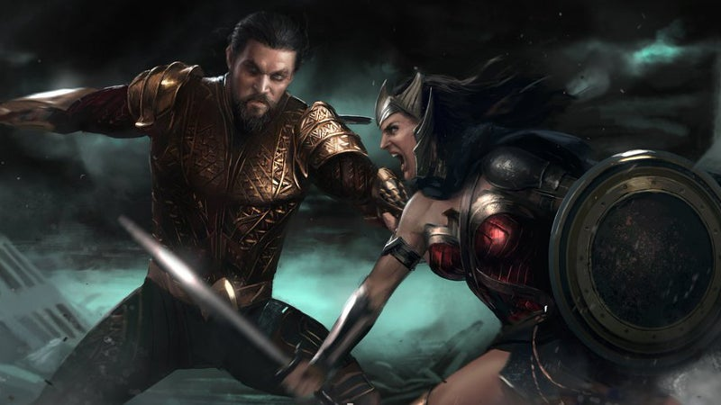 Flashpoint DCEU Aquaman vs Wonder Woman